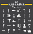 build and repair glyph icon set construction sign vector image