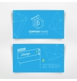 business visit card vector image vector image