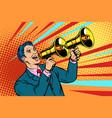 businessman with a megaphone announcement vector image