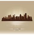 Calgary Alberta skyline city silhouette vector image vector image