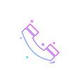 call telephone phone icon design vector image