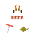 cartoon beer symbols set vector image