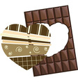 Chocolate Valentine card coffee in vector image