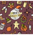 Christmas colored seamless pattern vector image vector image
