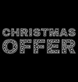 christmas offer text in polygonal mesh style vector image vector image