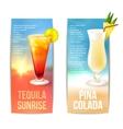 Cocktails banner set vector image vector image