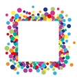 colorful abstract dot background vector image vector image