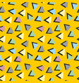 colorful abstract pattern with triangles vector image vector image