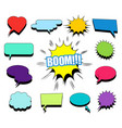 comic blank speech bubbles and clouds set vector image vector image