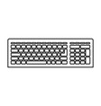 computer keyboard icon in black contour vector image
