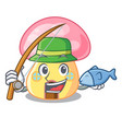 fishing mushroom house in a shape character vector image