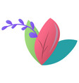 foliage leaf spring element blooming floral vector image