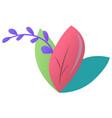 Foliage leaf spring element blooming floral