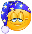 good night emoticon vector image vector image