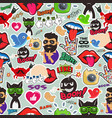 graffiti seamless texture with social media signs vector image vector image