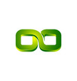 green infinity logo template infinity design vector image