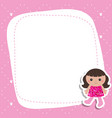 greeting card with beautiful doll greeting card vector image vector image