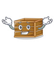 grinning crate character cartoon style vector image vector image