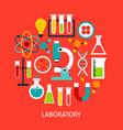 laboratory flat concept vector image vector image