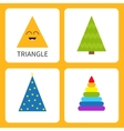 Learning triangle form shape Smiling face Cute vector image