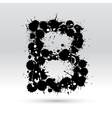 Letter B formed by inkblots vector image vector image