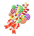 lollipops with red ribbon vector image vector image