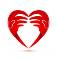 loving hands charity and support abstract vector image vector image
