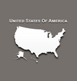 map of united state of america vector image