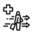 medical assistance to tourist with suitcase icon vector image vector image