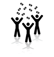 money falling from sky vector image vector image