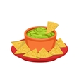Nachos Chips With Guacamole Traditional Mexican vector image vector image
