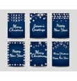 New year and christmas cards vector image vector image