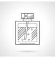 Perfumery flat line icon vector image vector image