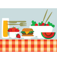 picnic food vector image vector image