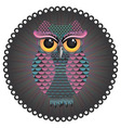 Pink and Blue Color Owl3 vector image vector image