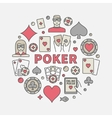 Poker round colorful vector image vector image