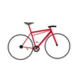 red bicycle sport transport equipment vector image vector image