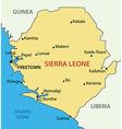 republic sierra leone - map vector image vector image
