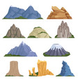 rockies mountains volcano rock snow outdoor vector image