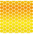 seamless honeycomb background vector image vector image