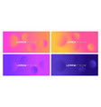 set colorful blur gradient on background vector image vector image