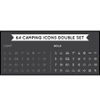 Set of Thin and Bold Hunting Camping Sport vector image vector image