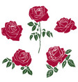 silhouettes of roses vector image vector image