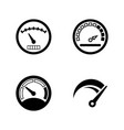 speedometer gauges simple related icons vector image