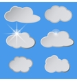 Stylized white clouds in the blue sky the sun vector image vector image