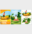 summer activity posters set - yoga rolling vector image