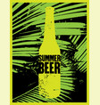 summer beer typography vintage grunge poster vector image vector image