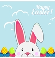Template for Easter greeting card with cute white vector image vector image
