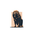 the lion grins vector image vector image
