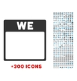 Wednesday Flat Icon vector image